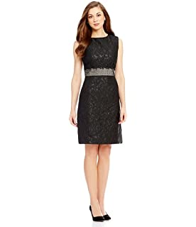 5ef5dc7f767 Antonio Melani Edna Jacquard Sheath Embroidered Lace Waistband Dress