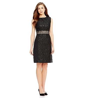 cbd3e1c92b7 Antonio Melani Edna Jacquard Sheath Embroidered Lace Waistband Dress ...