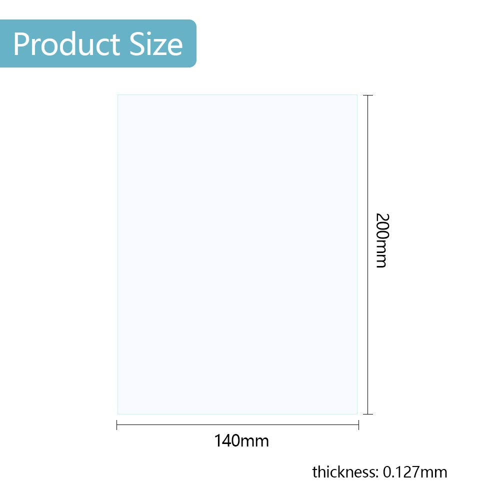Mookis FEP Film for 3D Printer 0,127 mm Thick with 2 Replacement Plastic Spatulas for LCD 3D Curing Printer 200 x 140 mm 5-Pack