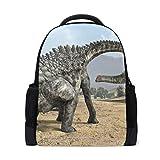 MUOOUM Dino Dinosaur Egg Ampelosaurus Polyester Backpack School Book Bag Travel Daypack