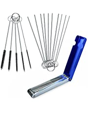 homEdge Carburetor Cleaning Tool Kits, Carb Carburetor Jet Cleaner for ATV, UTV, Motorcycle Moped Welder Carb, Jet Dirt Remover, Set of 10 Cleaning Needles + 5 Nylon Brushes + 13 Cleaning Wires Set