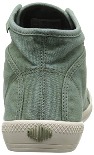 Palladium FLEX LACE MID - zapatillas deportivas altas de lona mujer Verde
