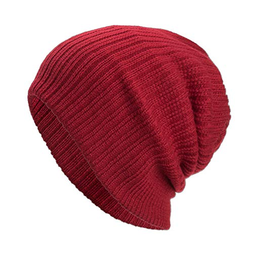 NRUTUP Winter Hats, Unisex Warm Hat, Skull Cap, Ski Hat - Knit Hat .(Wine,Free Size)