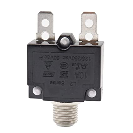 Fuse Resettable AC 125//250V Switch Reset Button Circuit Breaker Protector