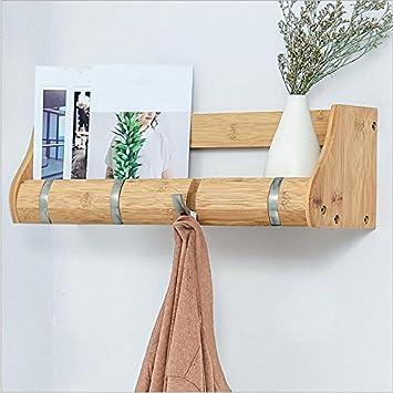 WCUI Wand Haken Regal, Wand Hängende Badezimmer Lagerung Rack Kleiderbügel  Schlafzimmer Massivholz Lagerung Rack Wohnzimmer