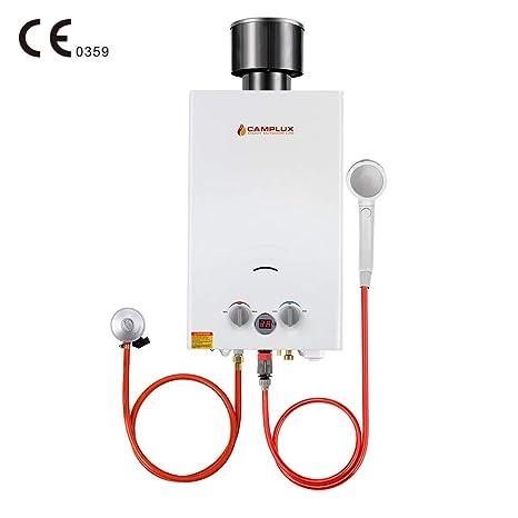 Camplux BW264C Calentador de Agua de Gas sin Tanque con Tapa ...