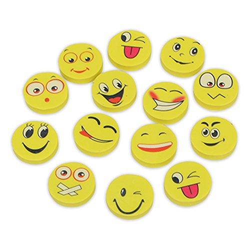 Windy City Novelties (72 Pack) Emoji Pencil Erasers Party Favors for Kids Bulk
