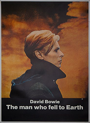 MAN WHO FELL TO EARTH '76 DAVID BOWIE HALF SUBWAY POSTER