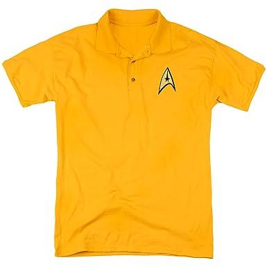 Star Trek - Polo - Manga corta - para hombre dorado dorado Small ...