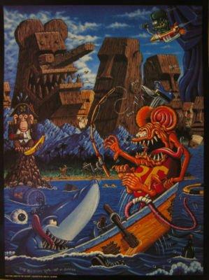 Rk Sloane Poster Rat Fink Goes To Tiki Island R.K. (Fink Posters Rat)
