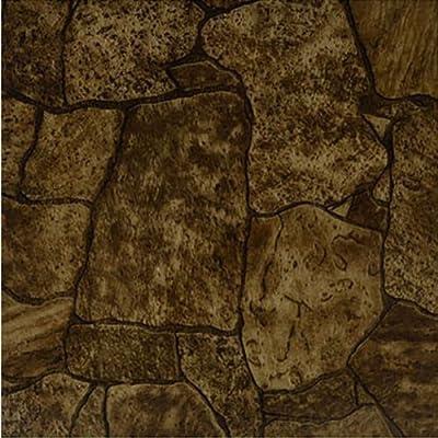 New Rustic Stone Vinyl Floor Tiles 20 Pcs Self-Adhesive Flooring -Actual 12'' x 12''