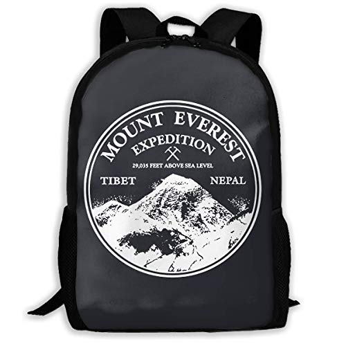 Lightweight Mount Everest Rock Climbing Mountains Are Calling Printed School Backpack Water Resistant Travel Rucksack Bag Laptop Backpack Daypack,17 Inch
