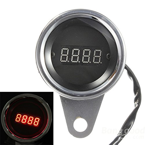 Pink Lizard LED Motorcycle Digital Tachometer Tacho Speedometer RPM Gauge 2 Cylinder