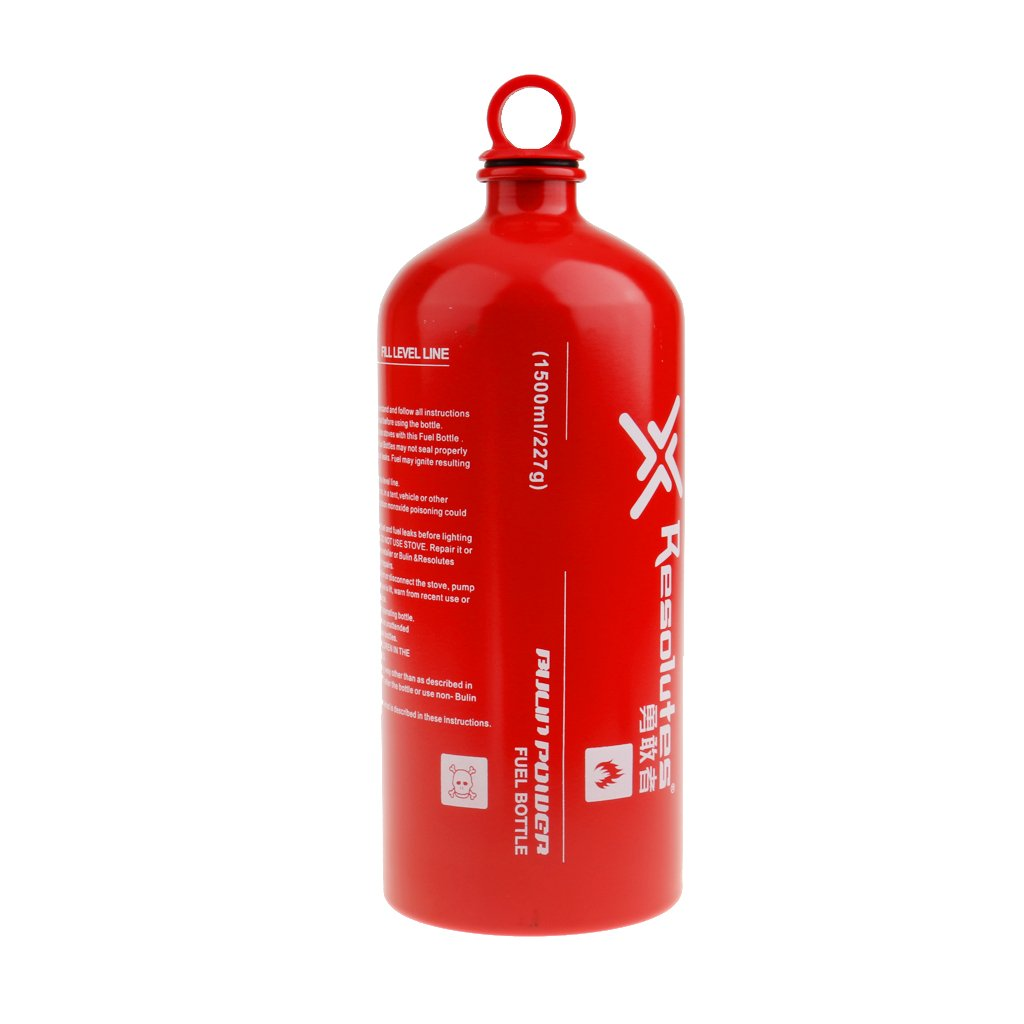 Generic New Outdoor Camping Travel Picnic Gas Oil Fuel Bottle Motorcycle Emergency Petrol Storage Can - Red, 1500ml