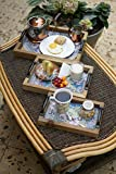 Strova Rustic Wood Serving Tray with Handles, Set