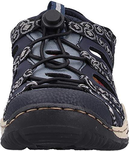 adria L0577 pazifik 18 Para schwarz 18 grau navy Azul Zapatillas Mujer Rieker Yq0dwY