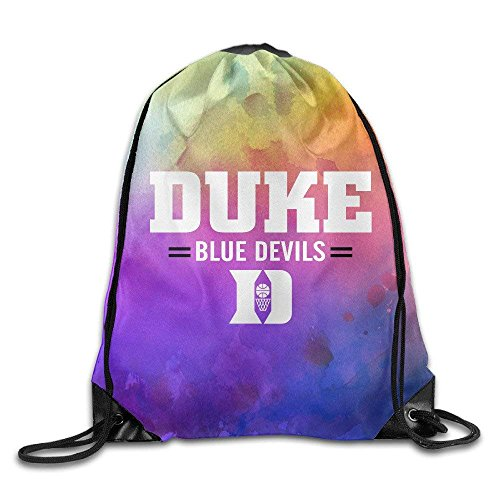 Creative Design Duke Blue Devils Basketball Drawstring Backpack Sport Bag For Men And Women Duke Blue Devils Gym Bag