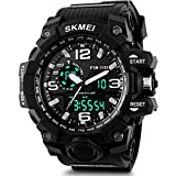 SKMEI Analog-Digital Black Dial Men's Watch - AD1155 (BK White)