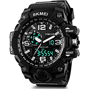 SKMEI Analog Digital Quartz Men's Watch with Silicone Strap – AD1155