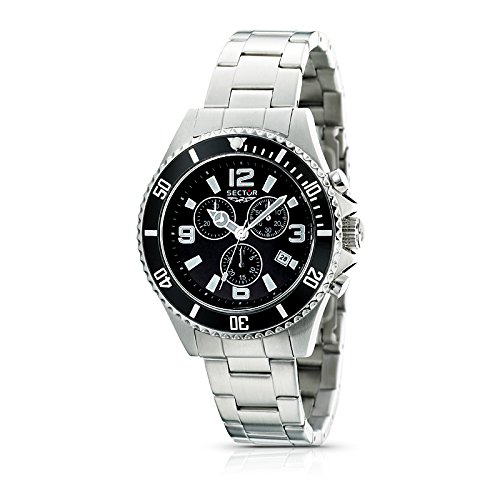 Sector Unisex R3273661025 Urban 230 Stainless Steel Black Dial Watch