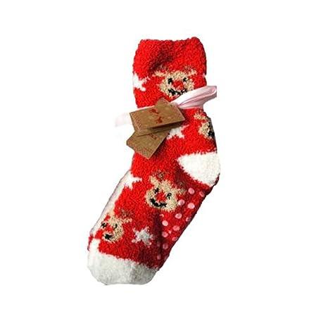 De la Navidad calcetines antideslizantes con separación de ...