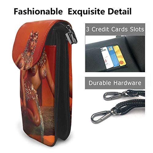 Hdadwy Mobiltelefon crossbody väska Nicki Minaj crossbody mobilväska mångsidig mjuk PU-läder plånbok telefonväska axelväska liten axelremsväska mini mobilväska axelväska