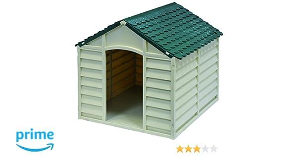 GARDIUN KIG10701 Caseta para Perros, Blanco Y Verde, 72x71x68 cm: Amazon.es: Jardín