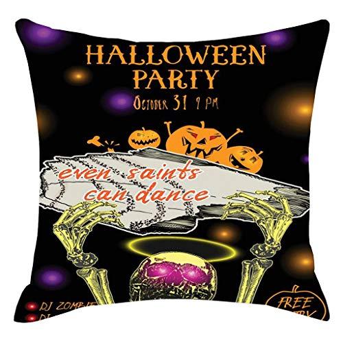 YESWOMAN Camouflage Halloween Pumpkin Throw Pillow Cover Pillowcases Decorative Sofa Cushion Cover]()