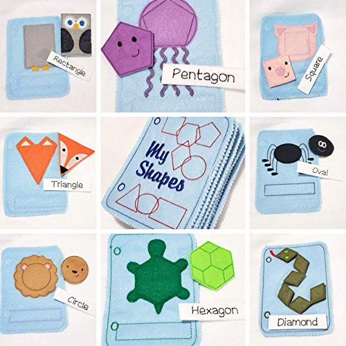 Animals shape matching Quiet book with 8 activity pages