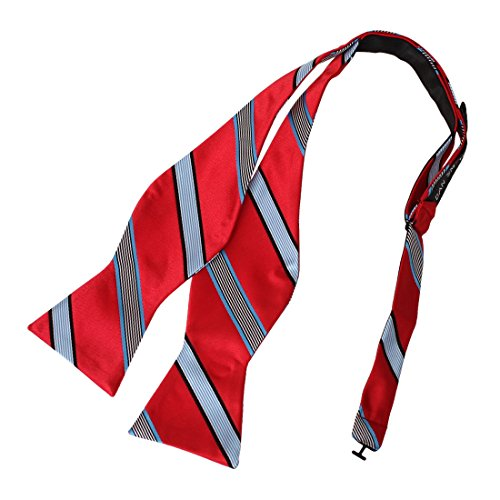 DBA7A15G Red Blue Stripes Bow Tie Microfiber Excellent For School Hand-model Bow Tie By Dan Smith (Stripe Bow)