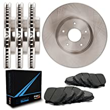 Front + Rear Premium OE Blank Rotors and Carbon Pads Brake Kit TA053643   Fits: 2008 08 2009 09 2010 10 Dodge Grand Caravan