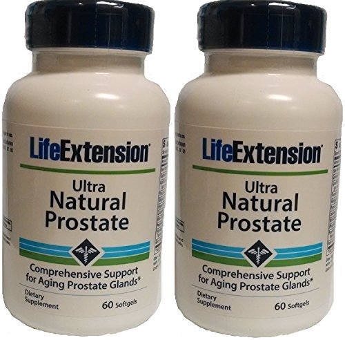 Life Extension Ultra Prostate Softgels, 60 Count (Pack of 2)