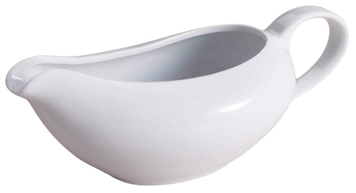 Porcelain Coupe Shaped Gravy Sauce Boat, 18-Ounce COMINHKPR141729