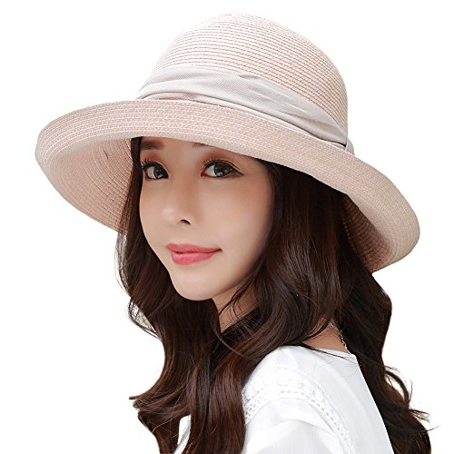 [Siggi Floppy Summer Sun Beach Japan-Imported-Straw Hats for Women SPF Crushable Bucket Cloche Hat 56-59cm] (Straw Safari Hat)
