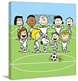 Peanuts PE-SPS-01-C-18 Soccer Team' Painting Print on Wrapped Canvas, 18'' X 18''