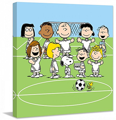Peanuts PE-SPS-01-C-18 Soccer Team' Painting Print on Wrapped Canvas, 18'' X 18'' by Peanuts