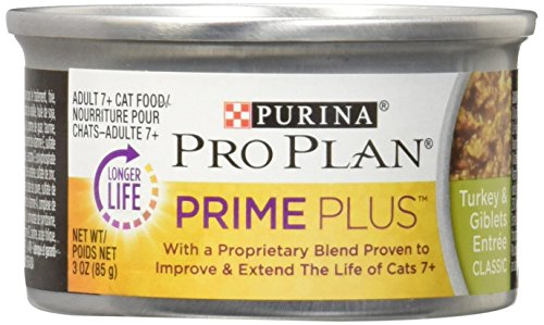 (Purina Pro Plan PRIME PLUS Classic Entree Adult 7+ Wet Cat Food - (24) 3 oz. Cans)
