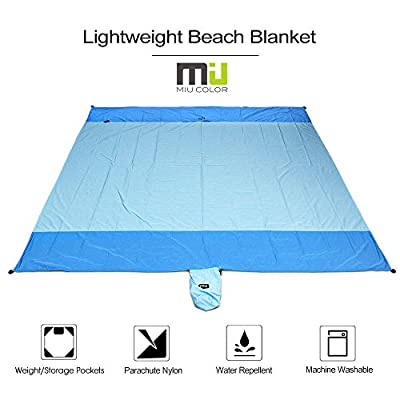 Compact Lightweight Waterproof Outdoor Blanket by MIUCOLOR, Sandproof Picnic Blanket for Camping Hiking Grass Beach Travelling