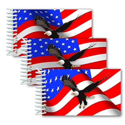 amazon com lenticular animated usa 2x4 spiral notebook wave