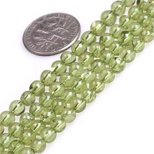 - Peridot Beads for Jewelry Making Natural Gemstone Semi Precious 4-5mm Round 15