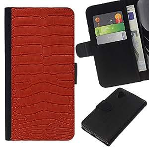 KLONGSHOP // Tirón de la caja Cartera de cuero con ranuras para tarjetas - Textura Diseño Textil Rojo Patrón de arte - LG Nexus 5 D820 D821 //