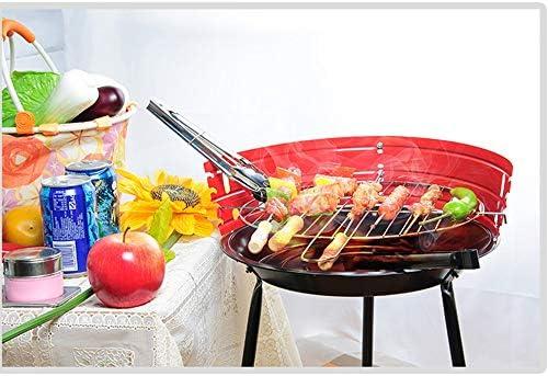 Peng Teng Barbecue extérieur Barbecue au Charbon épais en Acier Inoxydable Pliant Portable Pique-Nique Ménage Cooker Barbecue en Plein air (Size : 36x36x52cm)