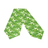 Oreayn Tropical Table Runner 70 inch Green Weddings Parties Kitchen Table Dressers Living Room End Tables, Tropical Monstera Leaf Table Cloth Runner Dining Outdoor Dinner Coffee Table