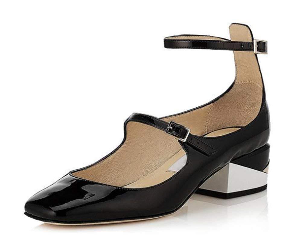 Oudan Leder - Mary - Jane - Schuhe,Schwarz,35 (Farbe   Wie Gezeigt, Größe   Einheitsgröße)