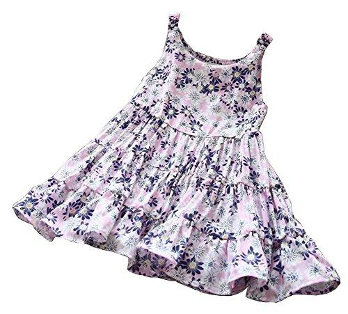 Verano Vestido Estampado 1 Niñas flores Precioso Para De ftZ7Y5Zxwq