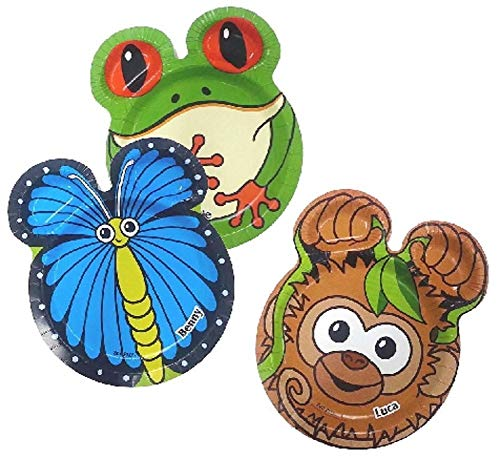 Hefty Zoo Pals Rainforest 7.37 inch Plates 20ct (3 Packages For A Total of 60 Plates) (Discontinued by Manufacturer)