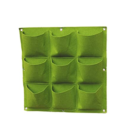 Charmant Haoun 9 Pockets Vertical Garden Wall Planter, Hanging Planter Wall Mounted  For Fence Herb Garden