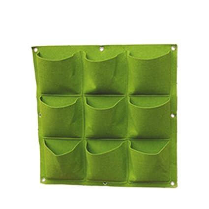 Haoun 9 Pockets Vertical Garden Wall Planter, Hanging Planter Wall Mounted  For Fence Herb Garden