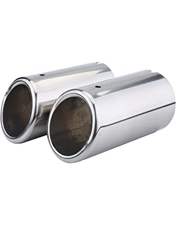 1 paio di Tubo di scarico Acciaio inossidabile Silenziatore Marmitta di scarico