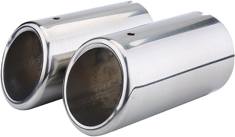 Keenso Auto Auspuffblende 2 Stk Universal Edelstahl Auto Auspuffblende Schalldämpfer Tipps Für 325i 328i Golf Tiguan Auto